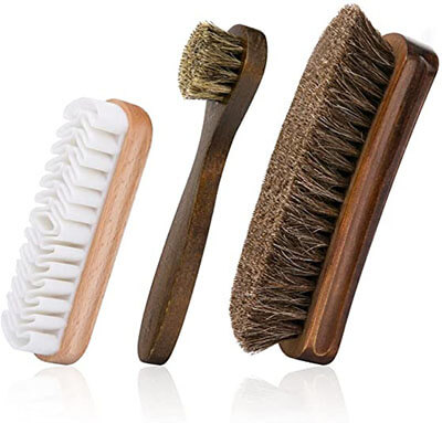 Foloda Shoes Brushes with Horsehair Bristles