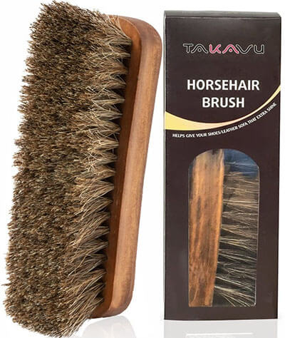 """TAKAVU 6.7"""" Horsehair Shoe Shine Brush"""