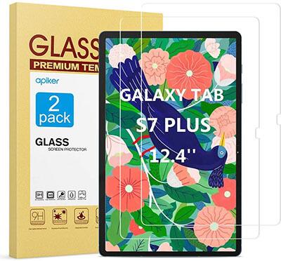 Apiker Galaxy Tab S7 Plus Screen Protector