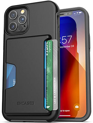 Encased Phantom Protective Wallet Case for iPhone 12 Pro Max with Card Holder Slot