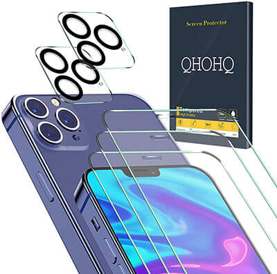QHOHQ Screen Protector for iPhone 12 Pro Max