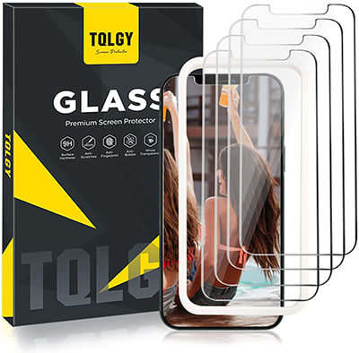 TQLGY Tempered Glass Screen Protector for Apple iPhone 12 Pro Max 6.7 inch